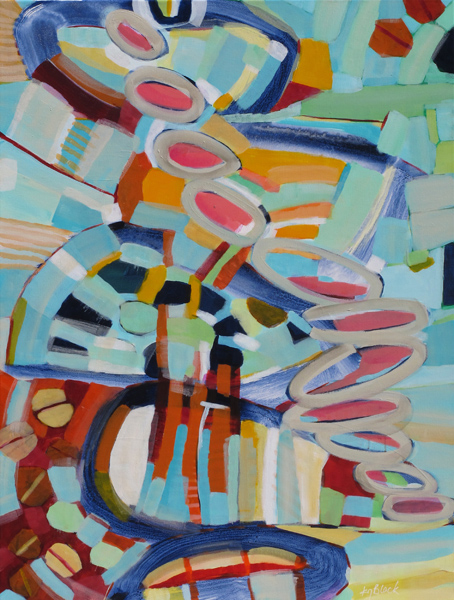 Colorful, original abstract, Caterpillar Tango by Kirsty Black