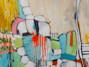 Original abstract painting, Viper Playground by Kirsty Black