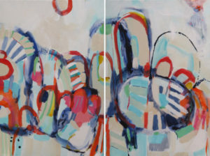Diptych Midnight Conga by Kirsty Black