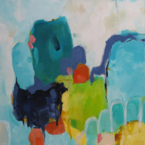 Abstract painting Wilderness Fossick by Kirsty Black