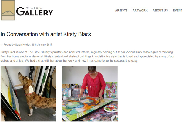 Little Gallery, In Conversation with Kirsty Black