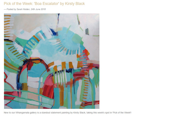 Little Gallery Pick of the Week - Boa Escalator by artist Kirsty Black