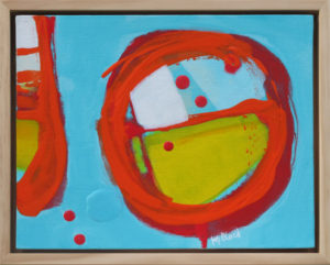 Small, original framed gestural abstract,