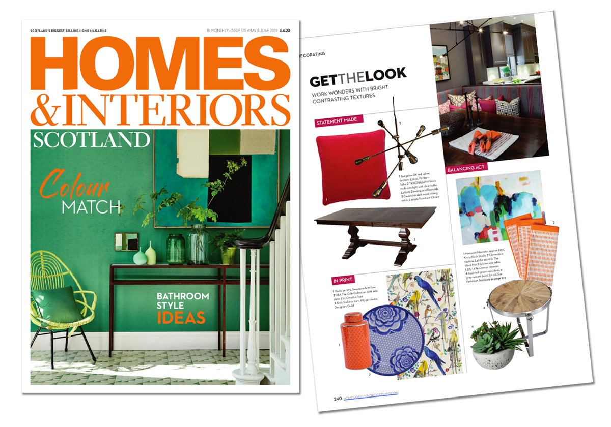 Monsoon Meander in Home & Interiors, Scotland May June 2019