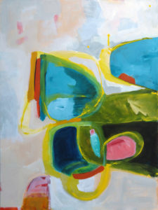 Flit Flap, large abstract artwork by NZ artist Kirsty Black