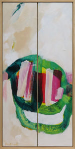 Slink Slope, acrylic on play, framed in pine