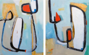 Hoppitty Hip - Diptych by Kirsty Black