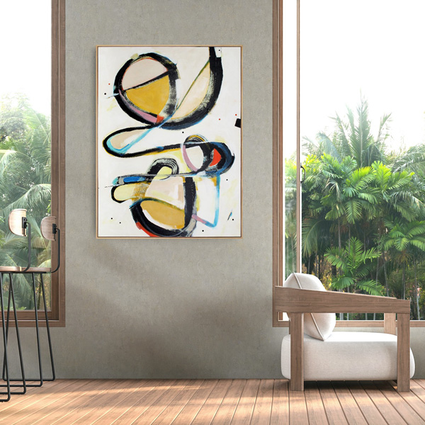 NZ Statement contemporary painting viewed on wall for sale NZ by Kirsty Black
