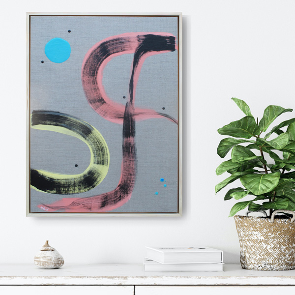 NZ painting for sale, minimal abstract on linen by Kirsty Black