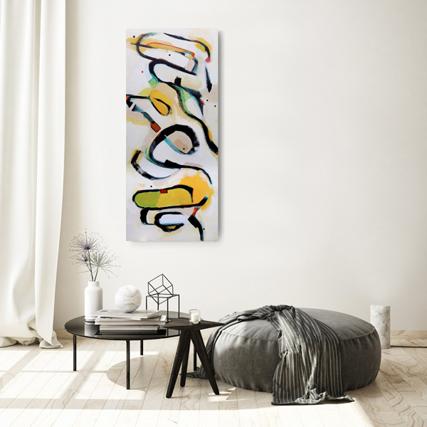 NZ contemporary painting for sale, veiwed on a wall