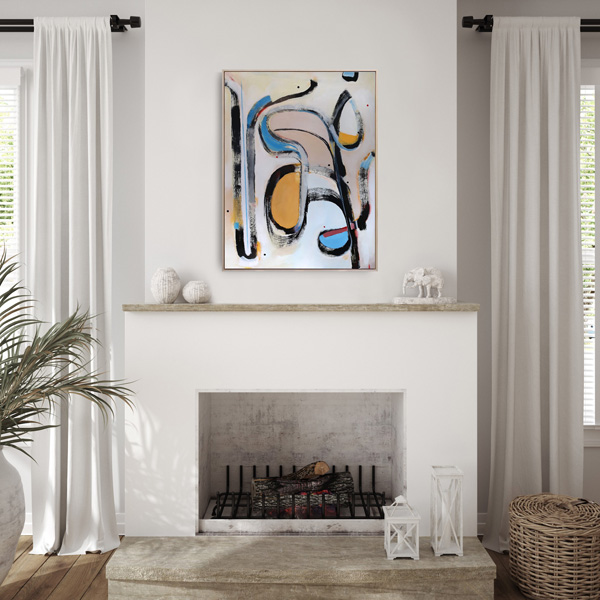 abstract art for sale NZ viewed on a wall
