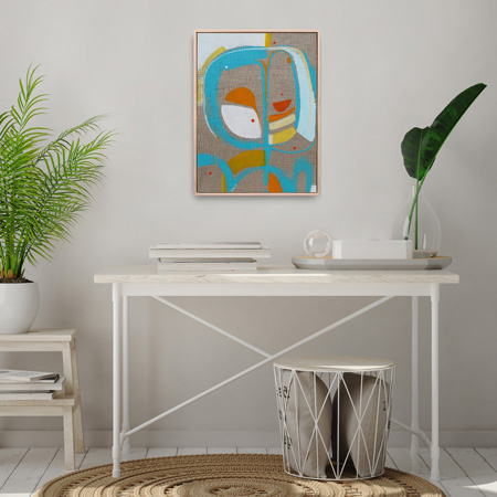 Stylish abstract art for sale NZ on linen by Kirsty Black